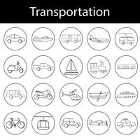 Vecteur de divers véhicules de transport