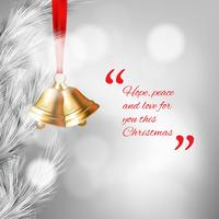 Fondo feliz Navidad con adornos en estilo realista
