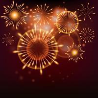 Fondo de año nuevo 2019 realistas fuegos artificiales