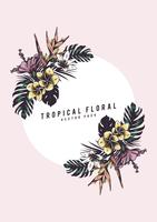 Tropical floral illustration
