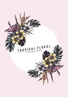 Tropical floral illustration