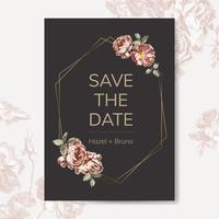 Blom- tema inbjudningskonstruktioner