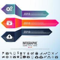Pfeil Infografiken Designvorlage