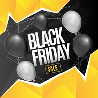 Background with geometric shapes for black friday
