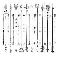Collection de jeu d'icônes de flèches vector illustration sur fond blanc