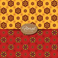 2 motifs avec mandala et éléments floraux
