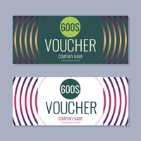 Gift Voucher Vector background for banner