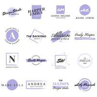 Logo retro vintage femenino para banner