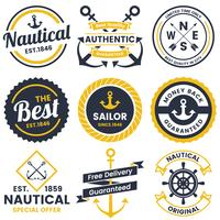 nautical Retro Vector Logo for banner