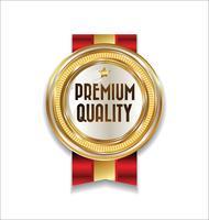 Luxury premium golden badge vector