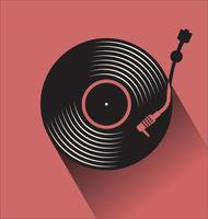 Simple turntable vector illustration