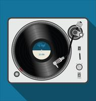 Ilustración de vector de giradiscos simple