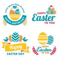 Ostern-Tagesvektor-Logo für Fahne