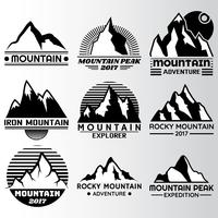 mountain lable Design Template