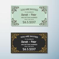 Wedding Invitation Vintage flyer background Design Template
