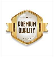 Badge doré de luxe premium