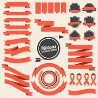 Ribbon Vintage Vector Logo for banner