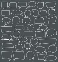 Speech bubbles on black background collection