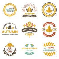 Autumn Label Vintage Vector Logo for banner
