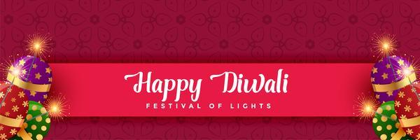 glückliches Diwali-Cracker-Hintergrunddesign
