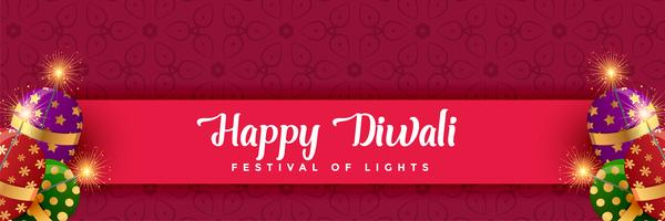 happy diwali crackers background design
