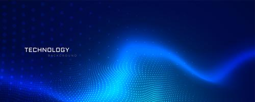 abstract blue technology banner design