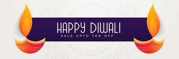 glücklicher Diwali-Bannerentwurf für Festivalsaison