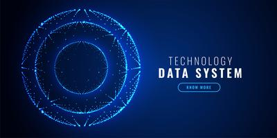 Fondo de tecnología de puntos círculo futurista