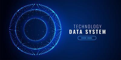 cercle de technologie futuriste points fond de technologie