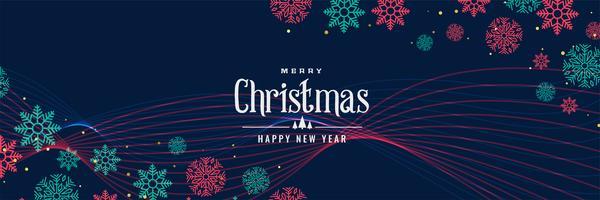 elegante design de banner de flocos de neve de Natal