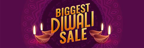 biggest diwali sale design banner