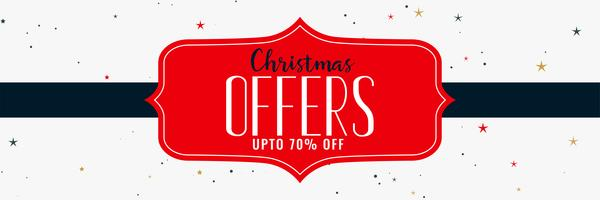 Ofertas de navidad y diseño de banner de venta.