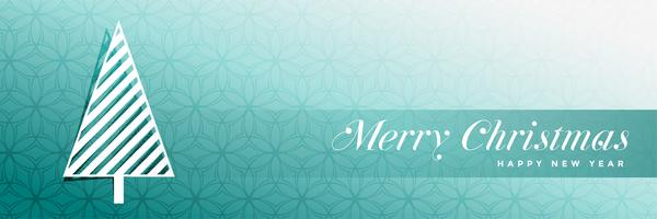 diseño elegante de la bandera del árbol de navidad azul