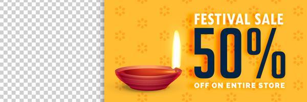 Ilustración de venta de diwali con espacio de imagen