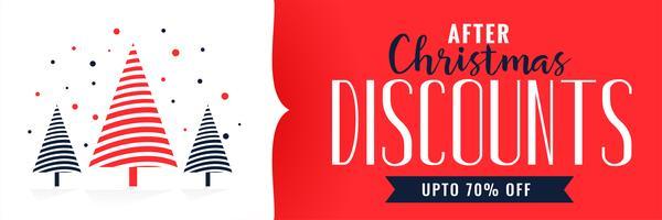 Kerst kortingen banner ontwerpsjabloon