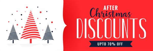 christmas discounts banner design template
