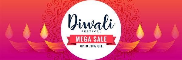 diseño de banner de venta de diwali feliz creativo