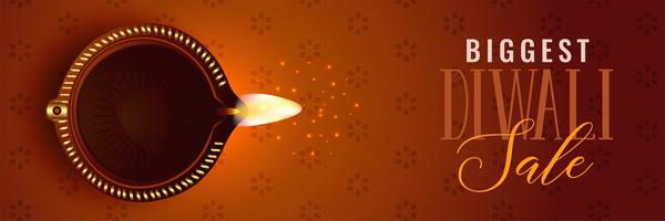 Diseño de fondo de venta festival de Diwali