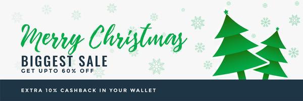 vrolijk kerstfeest verkoop banner ontwerp achtergrond