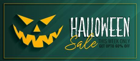 conception de modèle de bannière de vente Halloween
