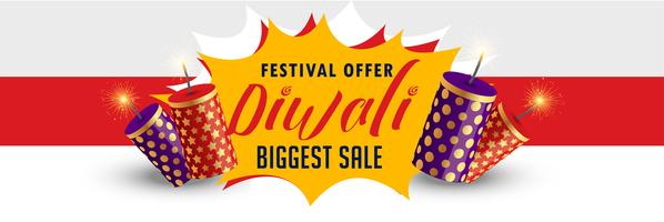 stilvoller glücklicher Diwali-Verkaufsfahnendesign