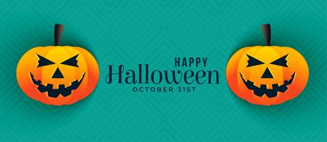design de banners de abóbora de halloween feliz
