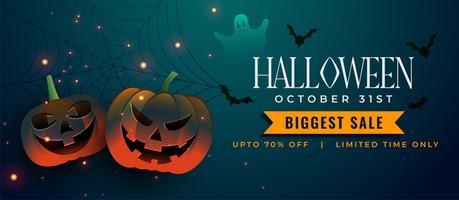 espeluznantes calabazas de halloween con murciélagos y elementos fantasma