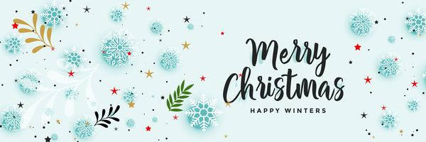 beautiful christmas banner with decorative elements