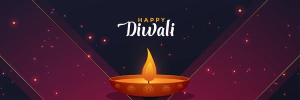 modello di design elegante diwali banner