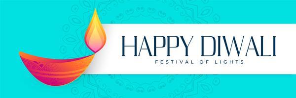 Diseño de banner de festival de diwali feliz hindú