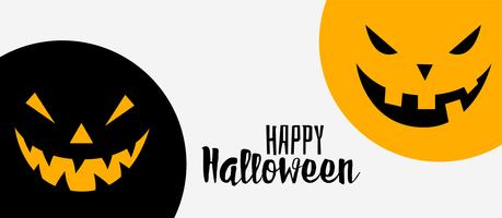 happy halloween funny and scary banner background