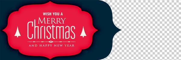 Banner festival de navidad con espacio de imagen