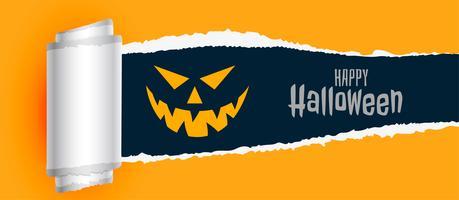 happy halloween enge achtergrond met gescheurd papier effect