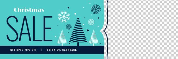 winter christmas sale banner with image space